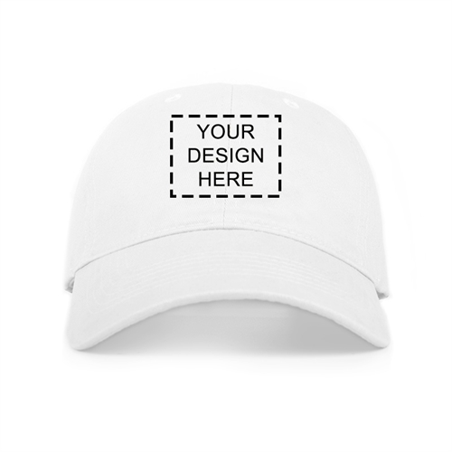 Custom Full Color Print Baseball Cap, White