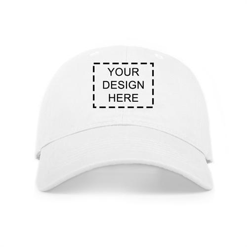 fedfe4b13 Custom Full Color Print Baseball Cap, White