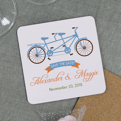 Tandem Bike Personalized Save the Date