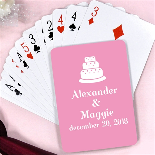 Create Personalized Wedding Cake Playing Cards