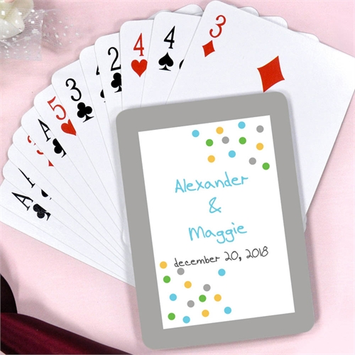 Create Cheers Personalized Save The Date Playing Cards
