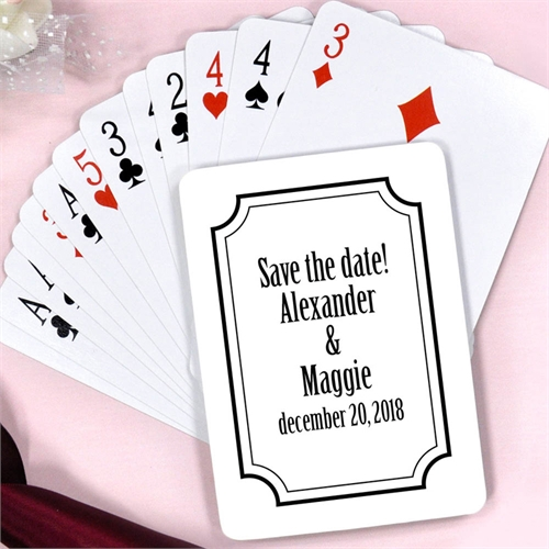 Create Classic Frame Save The Date Personalized Playing Cards