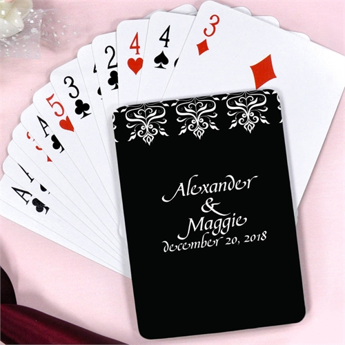 Create Personalized Save The Date Playing Cards