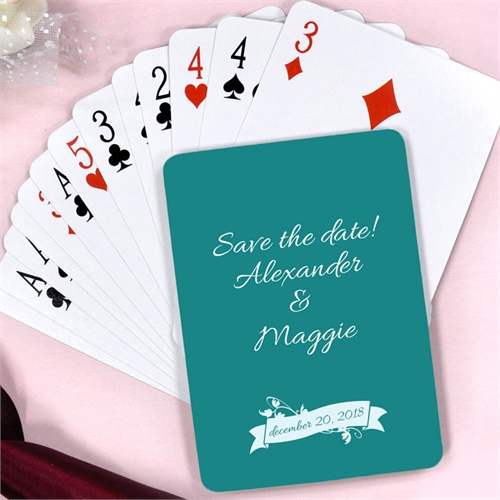 Happy Ever After Personalized Engagement Playing Cards