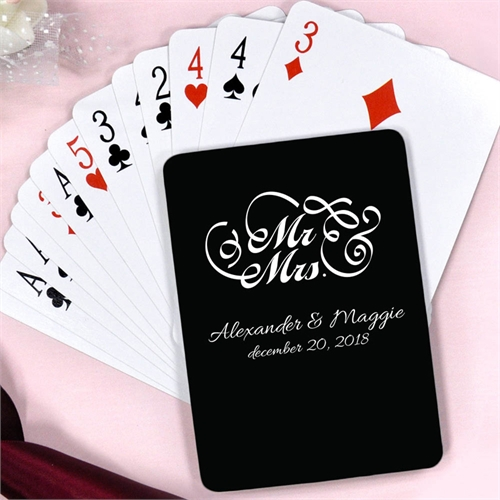 Personalized Mr. And Mrs. For Wedding Playing Cards