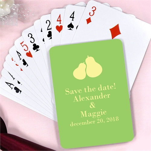Perfect Pair Engagement Personalized Playing Cards