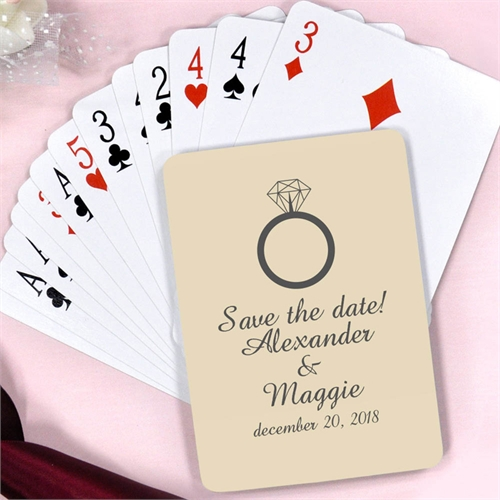 Wedding Rings Personalized Engagement Playing Cards
