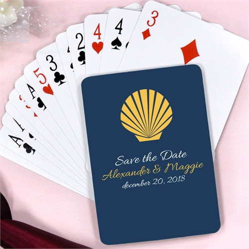 Seashell Wedding Personalized Playing Cards