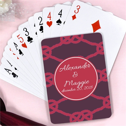 The Knot Personalized Engagement Playing Cards