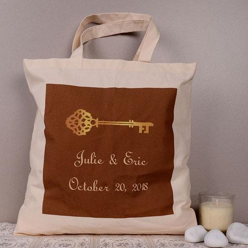 Elegant Wedding Key Personalized Tote Bag