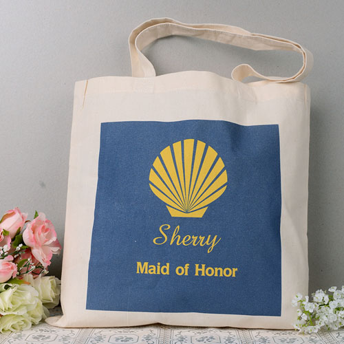 Seashell Wedding Personalized Tote Bag