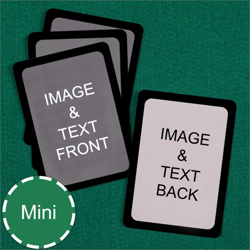 Mini Size Playing Cards Custom Cards (Blank Cards) Black Border