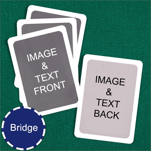 Bridge Size Playing Cards Custom Cards (Blank Cards) White Border