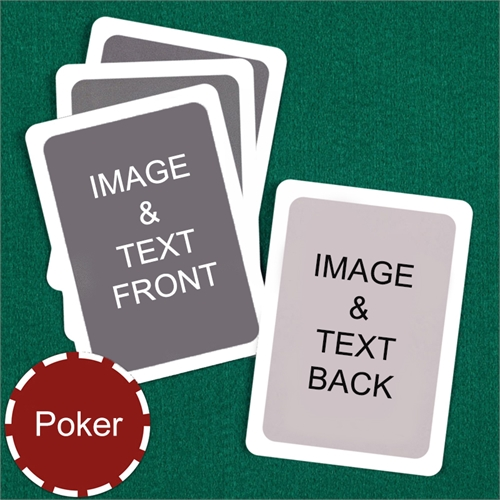 Poker Custom Cards (Blank Cards) White Border Playing Cards