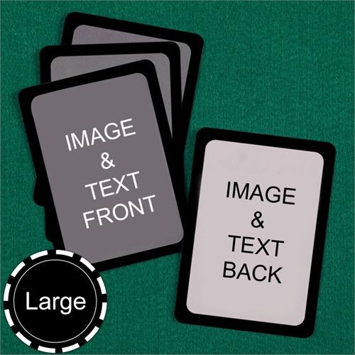 Large Size Custom Cards (Blank Cards) Black Border