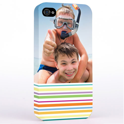 Personalized Colorful Stripe Photo Hard Case Cover