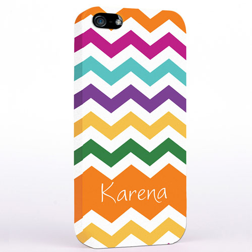 Personalized Orange Chevron iPhone Case