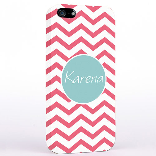 Personalized Carol Chevron iPhone Case