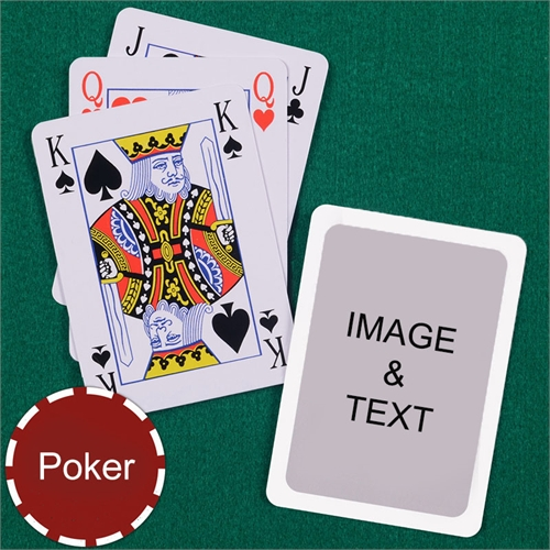 Poker Bridge Style White Border Playing Cards