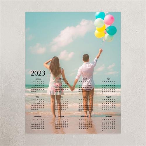 Grey Portrait 12X18 Photo Poster Print Calendar