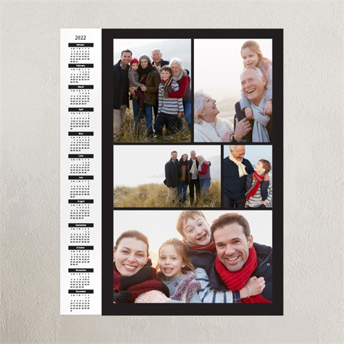 Black Portrait Five Collage 11X14 Personalized Poster Calendar 2019