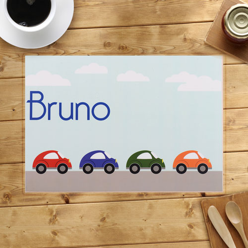 Personalized Cars Placemats