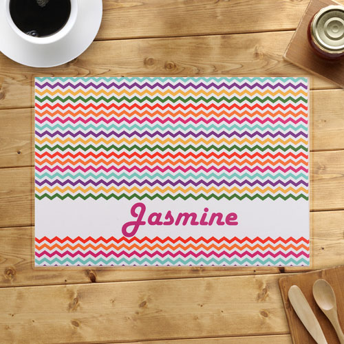 Personalized Chevron Zigzag Placemats
