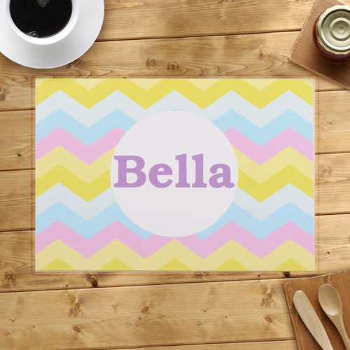 Personalized Huge Colorful Chevron Placemats