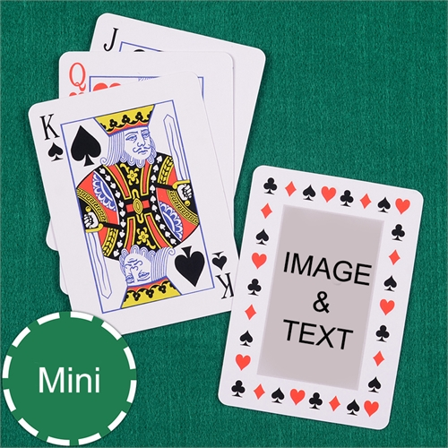 Mini Size Playing Cards Classic Transparent Standard Index_Copy