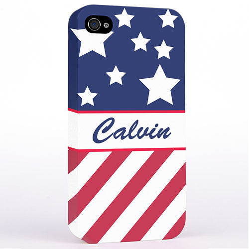 Personalized American Flag Hard Case Cover