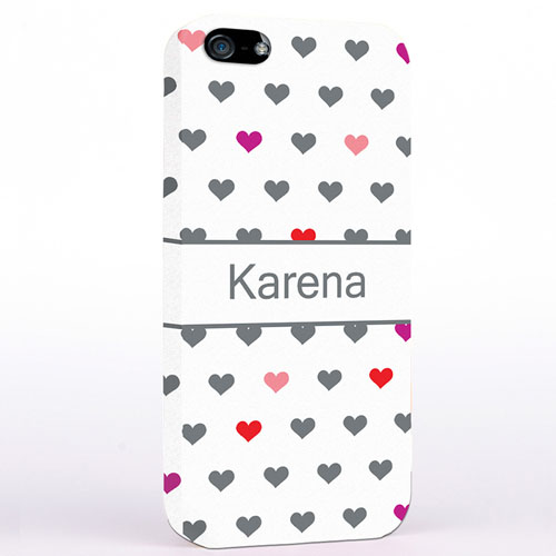 Personalized Colorful Small Hearts iPhone Case
