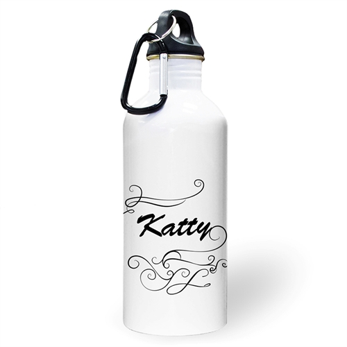 Personalized Photo Simply Swirl Water Bottle
