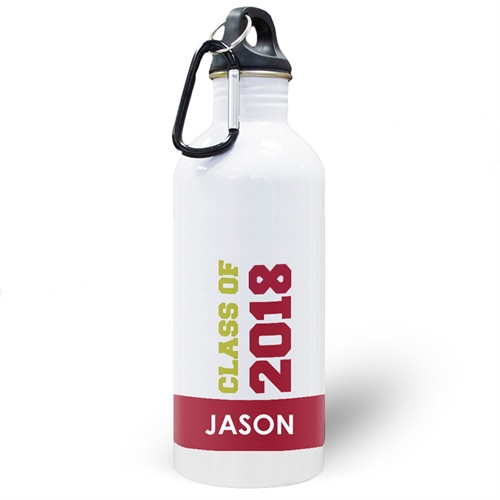 Personalized Photo Red Class Of 2018 Water Bottle