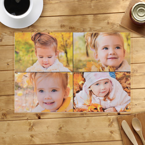 Personalized Four Photo Collage Placemats