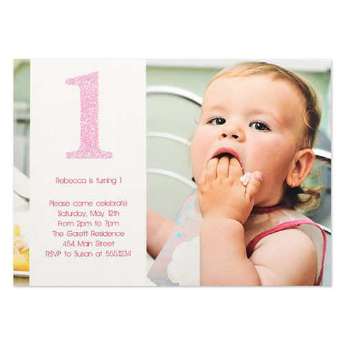 Personalized The First Year Girl Birthday Invitation Card