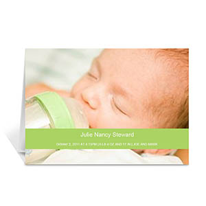 Personalized Lime Baby Greeting Cards