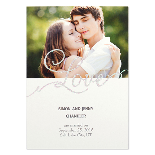 Personalized Love Party Invitation Card