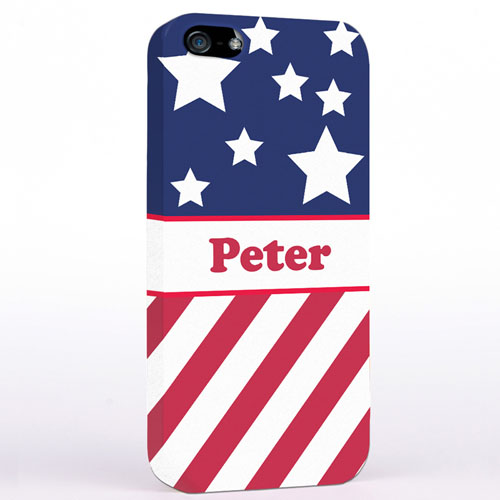 Personalized American Flag iPhone Case