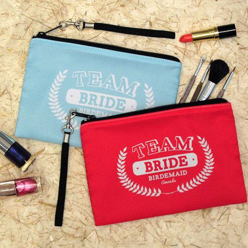 Personalized Team Bridesmaid Wristlet Bag (Medium Inch)