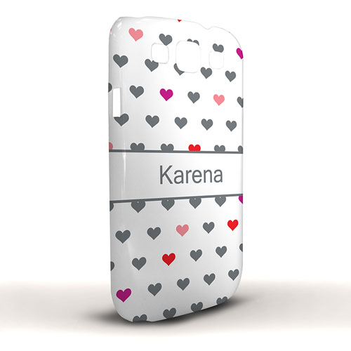 Design Your Own Colorful Hearts Samsung Phone Case Cover