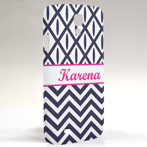 Custom Design Black & White Chevron Ikat Samsung Phone Case