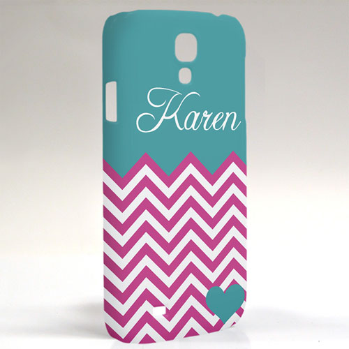 Custom Design Aqua Turquoise Chevron Samsung Phone Case