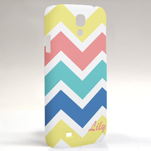 Custom Design Yellow Carol Blue Chevron Samsung Phone Case