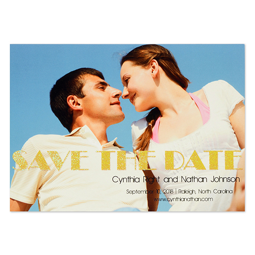 Personalized Perfect Pair Save The Date Cards