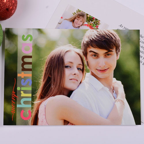 Personalized Merry Colorful Christmas Save The Date Cards
