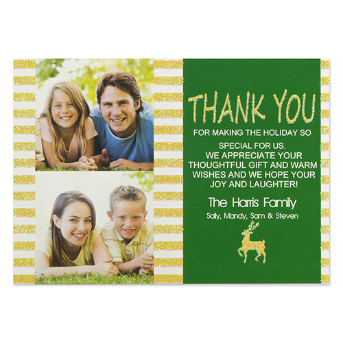 Personalized Christmas Thanks Invitation Cards