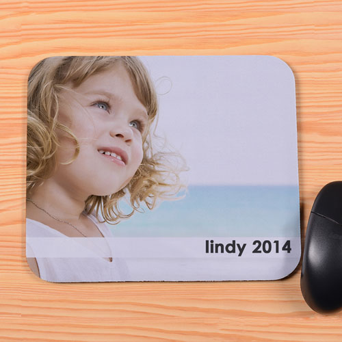 Personalized Image And Text Transparent Stripe Mouse Pad