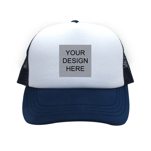 Custom Trucker Hat Square Image, Navy