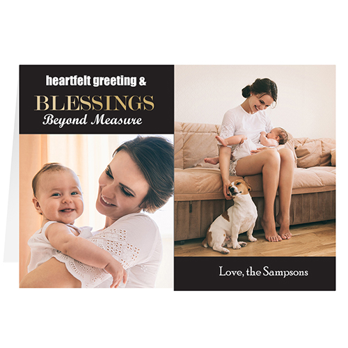 Black Blessing 2 Collage Personalized Greeting Card