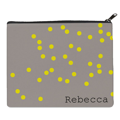 Print Your Own Yellow Natural Polka Dots Bag (8 X 10 Inch)